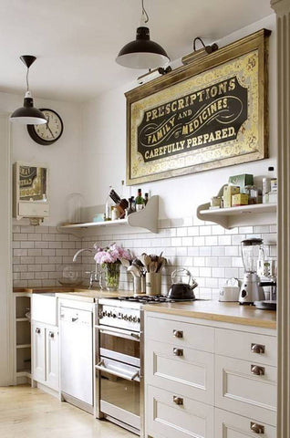 vintage farmhouse decor, diner signs