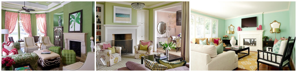 Home decor shop for green painted room