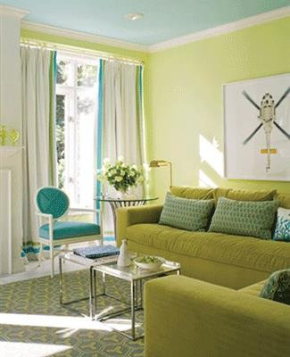 lime green paint accent decor ideas
