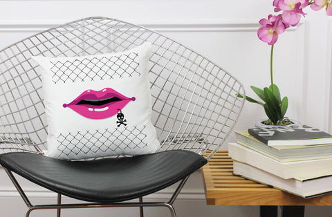 Punk Rock Lip Pillow