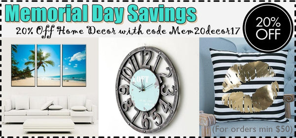 Home Decor Memorial Sale