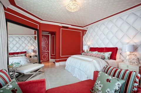 accent decor colors for red room