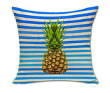 Pineapple Pattern Bright Color Throw Pillow Cushion Cover