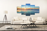5 Panel Sunset Beach Seascape Canvas Prints