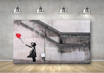 Girl with a Balloon Canvas Banksy Art Print Painting