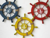 Mediterranean Nautical Helm, Ship Wheel Home Decor - 4 colors available