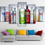 Absolut Vodka Bottles Bar Artwork for Wall