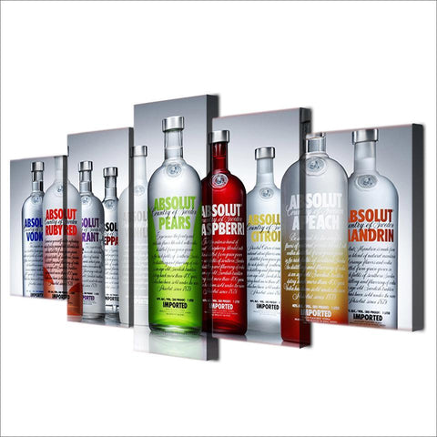Absolut Vodka Bottles Bar Artwork