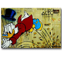 Alec Monopoly Scrooge McDuck Pop Art Canvas Wall Print