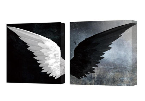 Angel Wings Stretched Canvas Art for Wall