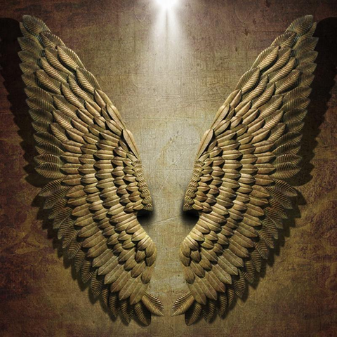 Angel Wings Wall Sculpture