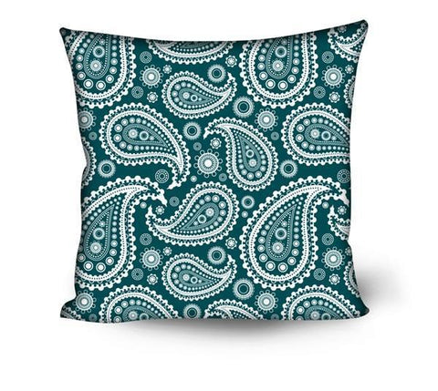 Bandanna Paisley Pattern Throw Pillows