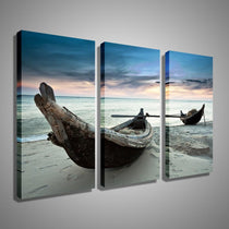 Beach Landscape Wall Art, Beach Sunset Home Decor Panels
