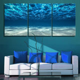 Beneath the Ocean 3 Piece Canvas Art Set