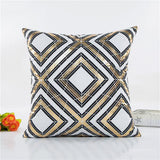 Black and Gold Pattern Throw Pillows