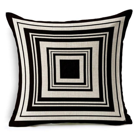 Black and White 3D Pattern Throw Pillows