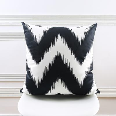 Black and White Chevron Throw Pillow, Nordic Style Decor