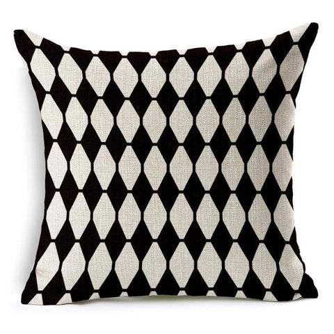 Black and White Diamond Pattern Throw Pillows