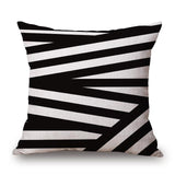 Black and White Throw Pillows, Minimalist Patterns