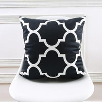 Black White Lattice Patterned Accent Pillows