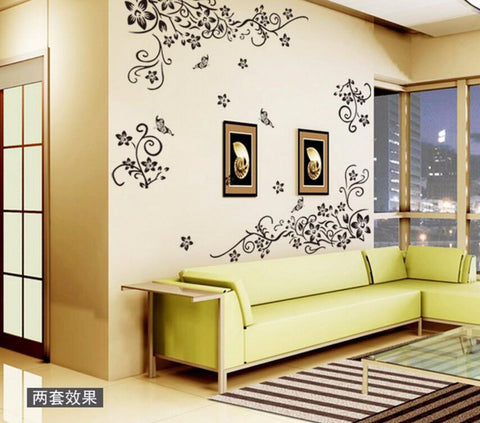 flower swirl modern wall sticker | click for instant discount