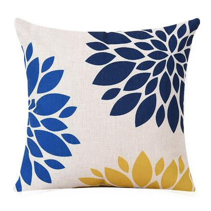 Navy Blue and Yellow Throw Pillows | on SALE NOW | Free Shipping