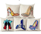 Blue Manolo Blahnik Inspried Throw Pillow Cover Home Decor