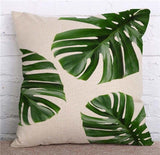 Cactus Green Leaves Accent Pillows, Nordic Style