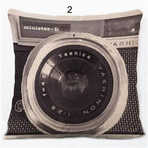 Camera Black and White Throw Pillow, Accent Cushion Cover