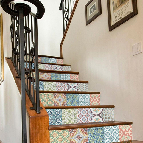 Ceramic Tile Backsplash Decals for Staircase Decals