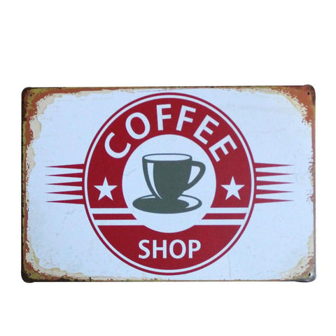 Coffee Shop Metal Sign