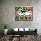Alec Monopoly Graffiti Art Piece, Monopoly Guy Top of Jet