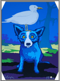 Blue Dog and Seagull, George Rodrigue