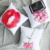 Red Lips Velvet Pillow Cases Rouse the Room
