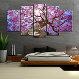 Purple Flowering Tree Canvas Set