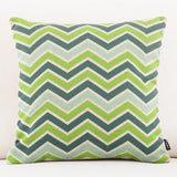 Contemporary Patterned Green Throw Pillows