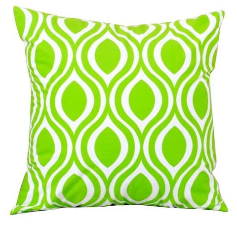 Decorative Throw Pillows Cover in Bright Green Velvet