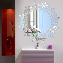 DIY Elegant Mirror Wall Decor Decal