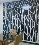 DIY Geometric Pattern Mirror Wall Decal for Accent Wall