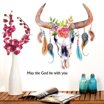 Dreamcatcher Bull's Skull Wall Sticker