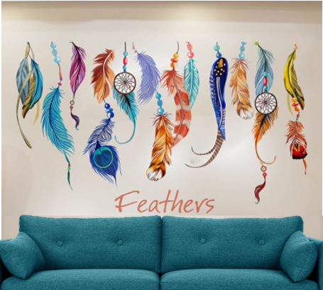 Dreamcatcher Feathers Wall Sticker
