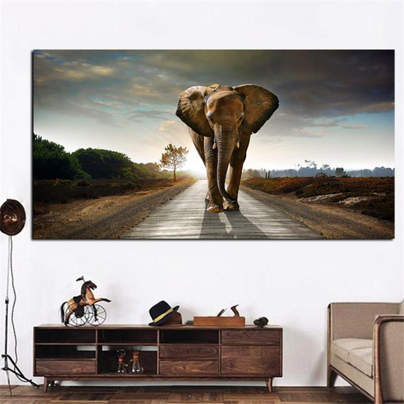 Elephant Paintings Prints Price Min Free Shipping Animal Art