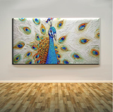 Famous Artist Hand-painted Peacock Oil Painting On Canvas Modern Animal Peacock Decorative Painting For Living Room Decoration