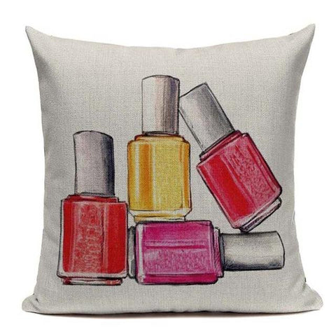 Fashion Cushion Covers -Perfume, Lipstick Pillow Cases