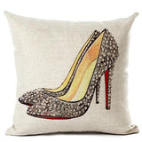 Fashion High-heeled Shoes Pillow Cover Home Decor