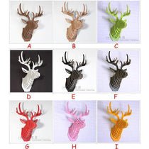 Faux Deer Head Wall Hanging