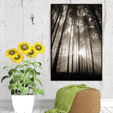 Forest Trees Canvas Print, Nordic Style Art