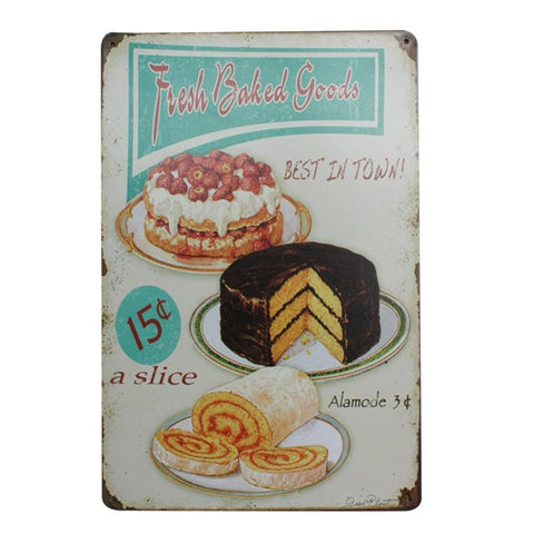 """Fresh Baked Goods"" Vintage Bar/Restaurant/Diner Sign, Pub Decoration"