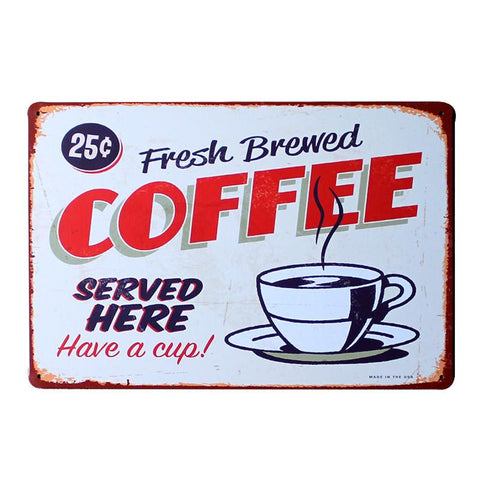 """Fresh Brewed Coffee"" Vintage Bar/Restaurant/Diner Sign, Pub Decoration"