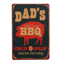 Gift for Dad Vintage BBQ Restaurant Sign